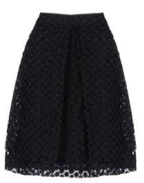 Simona Rocha Embroidered Crinoline  Knee Length Skirt $1105.00 The Corner