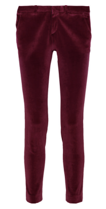 Each X Other Satin Trim Velvet Tuxedo Pant $415.00 Netaporter