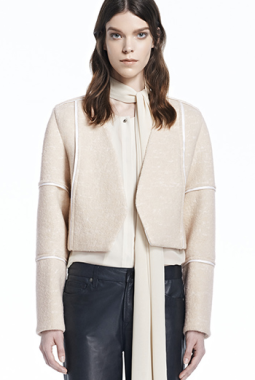 J Brand Luce Leather Trim Jacket