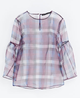 Zara Checked Blouse $59.90
