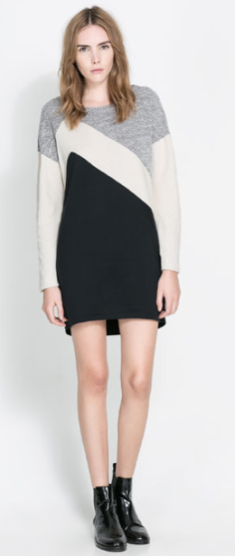 Zara Tri Color Dress $59.90