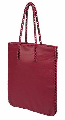Bottletop (Product)Red Amaranta braided bag $770.00