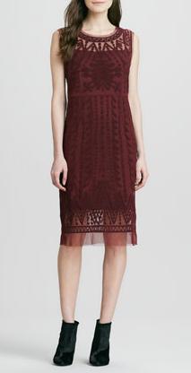Catherine Malandrino Embroidered-Mesh Sleeveless Dress $425.00 Neiman Marcus
