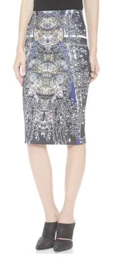 Clover Canyon Russian Enamel Pencil Skirt $225.00 ShopBop