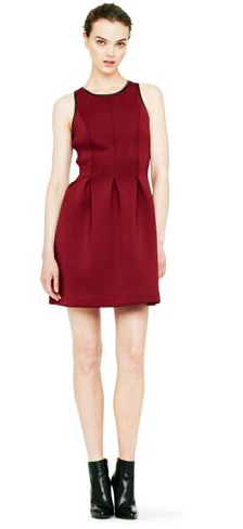 Club Monaco Susie Neoprene Pleated Dress $229.00 on sale for $159.00