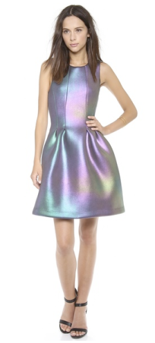 Cynthia Rowley Iridescent Scuba Dress $410.00