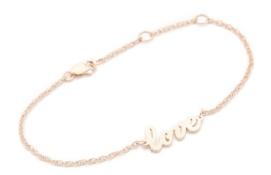 Jennifer Zeuner Rose Gold Love Bracelet $131.00 Shop Bop