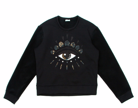 Kenzo Embroidered Neoprene Lotus Eye Sweater $475.00 Opening Ceremony