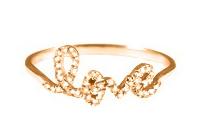 Sugar Bean Love Ring Rose $99.00