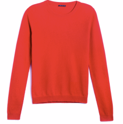 Theory (Product) Red Women's crew Neck Cashmere Sweater $265.00