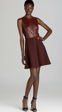 Tibi Leather With Ponte Sleeveless Dress $575.00 on sale for $459.99 Piperlime