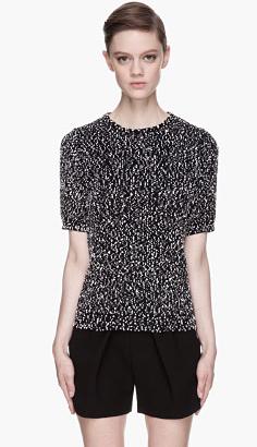 Chole Black & White Confetti Slub Knit Sweater $925.00 on sale for $278.00 SSense