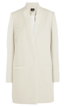 Isabel Marant Ego Calf Hair-Trimmed wool-Blend Coat $1575.00 on sale for $1102.50 Net-a-Porter