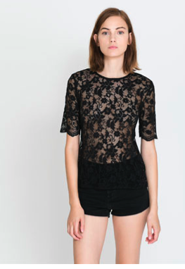 Lace Top With Back Zip on sale for $15.99