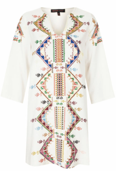 Embroidered Smock Dress $126.00