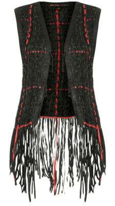 Leather Weave Gilet by Kate  $420.00