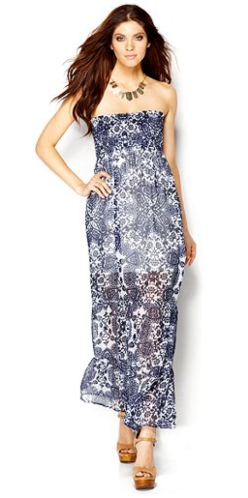 Guess Strapless Floral-Print Maxi Dress $118.00 Macy's