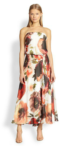 Haute Hippie Silk Chiffon Printed Maxi Dress $$695.00 Saks 5th Ave
