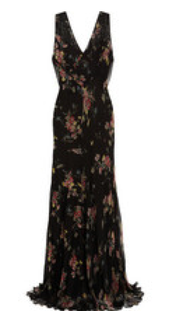Kate Moss For Top Shop Floral Chiffon Maxi Dress $360.00