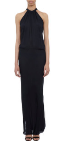 Nili Lotan Ribbon-Tie Halter Dress $495.00