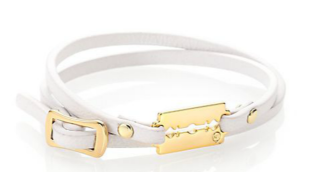 McQ Alexander McQueen Leather Mini Double-Wrap Razor Bracelet