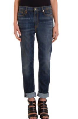 R13 Slouch Skinny Blue Shredded $325 Barneys