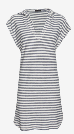 ATM Striped Terry Cotton Baja Dress $198.00