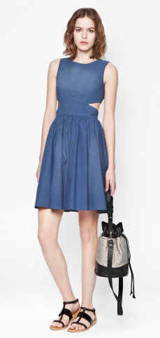 French Connection Blue Ash Denim Dress $198.00 on sale for $69.99