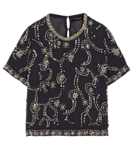 Isabel Marant Prenite Embellished Silk-Crepe Top $2365.00 on sale for $946.00