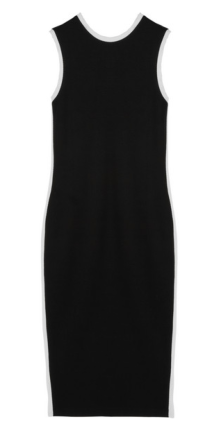 Karl Lagerfeld Hannah Mesh Trimmed Stretch-Jersey Dress $350.00