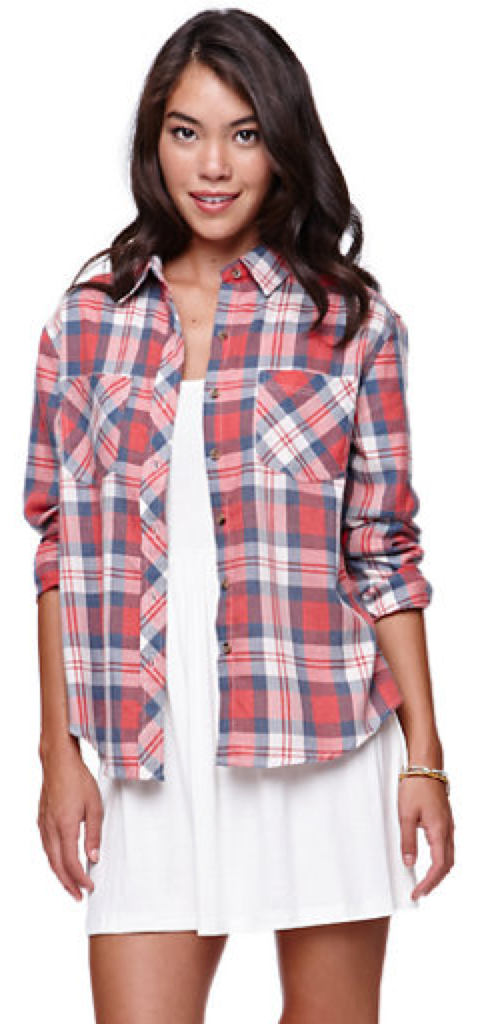 L A Hearts Burnout Plaid Shirt $35.95