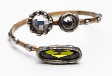 Mikal Winn Crystal Spiral Arm cuff $168.00
