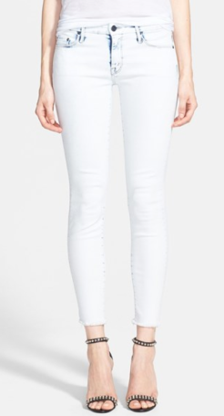 Mother The Looker Frayed Bleached Skinny Jean $196.00