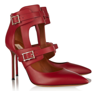 Valentino Hitch On Cutout Leather Pumps $1145.00