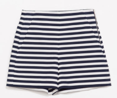 Zara High Rise Striped Shorts $59.90 on sale for $49.99