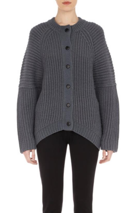 Balenciaga Chunky Rib-Kit Cocoon Sweater $995.00