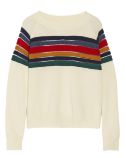 Band Of Outsiders Striped Wool Sweater $425.00