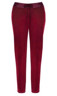 Ruby Red Velvet Tuxedo Pant