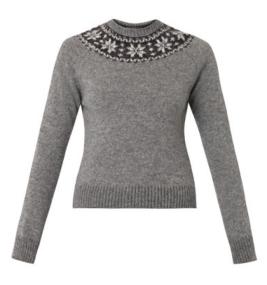 Saint Laurent Fair Isle Sweater $673.00