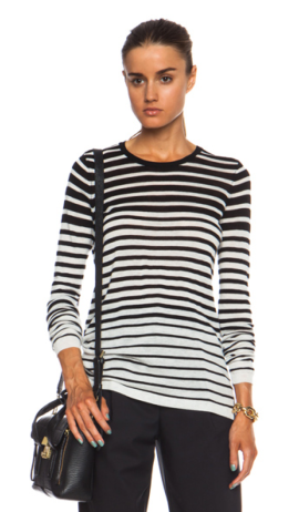 Striped Crew Wool-Blend Sweater $235.00