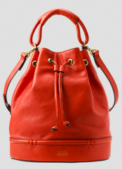 Kate Spade Saturday Red Pipeline Bucket Bag $260.00 on sale for $182.00