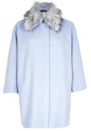 River Island Faux Fur Collar Oversized Coat$180.00 on sale for $120.00
