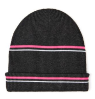 T by Alexander Wang Striped Ribbed-Knit Beanie $164.00 on sale for $49.00