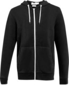 Top Man Black Zip Up Soft Touch Hoodie